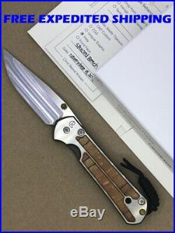 Chris Reeve Large Sebenza 21 Knife Drop Point S35vn Blade Spalted Beech Inlay