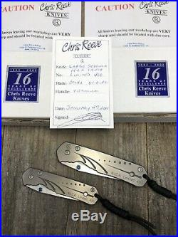 Chris Reeve Sebenza Vintage Tanto NICA 2000 Set Large And Small