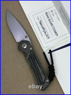 Chris Reeve Small Inkosi Knife S35VN Blade Titanium Handles Black Canvas Micarta