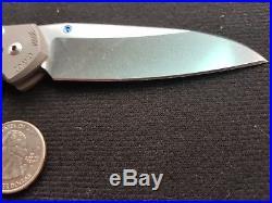 Chris Reeve Small Sebenza 21 Insingo Folding Knife S35VN Stonewashed Titanium