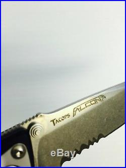 Chris Reeves Design Tacops Tanto Point Folding Knife