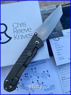 Chris Reeves Knives Folding Pocket Knife Umnumzaan Ti Flipper S35VN Tanto