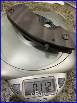 Crusader Forge Apex Flipper Folding Knife Tool 1/4 Titanium