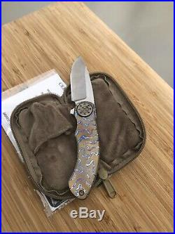 Curtiss Custom Knives Aero Dual Flipper Flame Anodized With Bronze Hardware