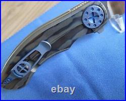 Curtiss Custom Knives Aero Flipper Cts-xhp Torched Ti Tuit Key Ring Tag