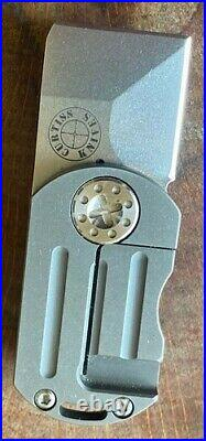Curtiss Custom Knives ODT Original DogTag Flipper Folding Pocket Knife Titanium
