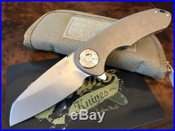 Curtiss Knives F3 Medium WH/ST Wharny Grind Standard Finish Authorized Dealer