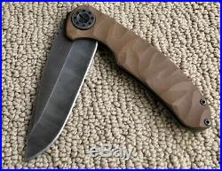 Curtiss Knives Large F3 Carved Coyote G10 UNUSED