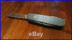 Custom Alox Blue Textured Titanium Super Tinker Swiss Army Knife Mod Pocket Clip