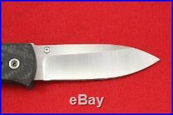 Custom Bob Dozier Handmade Folding Liner Lock Knife 2014 Carbon Fiber Trapper