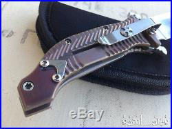 Custom Darrel Ralph DDR AXD 4 Tanto Expendables Bronze Ano Assisted knife