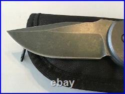 Custom David Mosier Crossfire Folder Flipper Knife