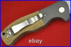 Custom Ernie Emerson Grenadier A Prototype withWave, Green Micarta Handle 2012 G4