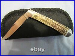 Custom Handmade One Bladed Stag Trapper. Tim Britton. Unused. Excellent