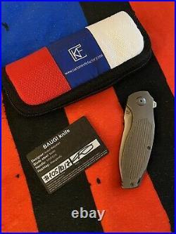 Custom Knife Factory CKF Baugi #105 Flipper Folding Knife RARE