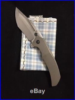Custom Knife Factory CKF Rassenti Satori Collab Knife, Large Integral Flipper