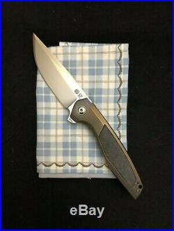 Custom Knife Factory CKF, Tuffknives Switch, Geoff Blauvelt, 3.46 M390