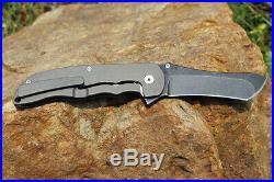 Custom Made Flipper Tactical Pocket Knife Knives M390 Blades Titanium Handle Nib