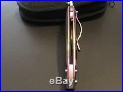 Custom Mike Hawg Franklin Anodized Linerlock Flipper Folder Knife