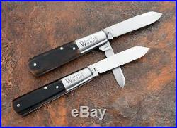 Custom Pair of Tony Bose and Kerry Hampton Barlow Slip Joint Pocket Knives Rare