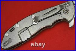 Custom Rick Hinderer Spanto XM24 4 Satin S35VN, Earth Brown G10 Scale