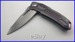 Custom Titanum MaxaceTANK M390 Satin Combat Tactical Flipper Bearing Knife NEW