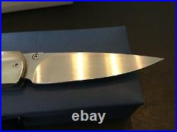 Custom William Henry Knives MOP Model T-10P Flipper Folder Folding Knife