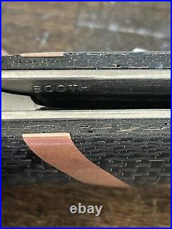 Custom flipper knife! Philip Booth! Carbon Fiber Brass