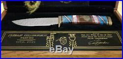 DAVID YELLOWHORSE Buck Custom Knives Cuthair Series One Very Rare Low # 0126