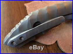 Dalibor Bergam Full Titanium Sculpted Integral Draco Custom Knife CPM 3V
