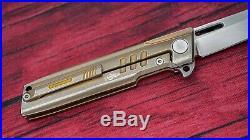 Darriel Caston (D Rocket Design) Squared (Shark), M390, Bronze Ano Titanium