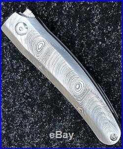 Darriel Caston D Rocket Designs AbOhlone Katana Style Tanto Flipper Damasteel