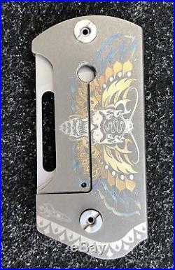 Darriel D Caston Rocket Designs Deathead Moth BMT Folder By SpaceX Flipper