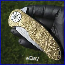 David Curtis Custom Made Knife LIMITED EDITION Rare Gold Class +Bonus GIFTS