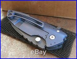Direware Hyper 90 Flipper with CF Handle & Blue TI and Clip
