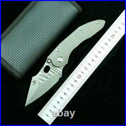 Drop Point Folding Knife Pocket Hunting Survival S35VN Steel Titanium Handle EDC