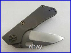Duane Dwyer Custom DDC SnG, Gunmetal CTS204P, Pike Grind, Full Ti Frame, Strider