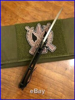 Duane Dwyer Full Custom DDC Strider SMF 3V Damascus Pike Blade LSCF Handle
