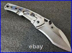 Dwaine Carrillo, Airkat Custom Knives Tunnel Ratt, Folding Framelock Machete