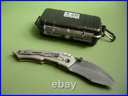 Dwaine Carrillo / Airkat Knife Custom Cobra Mod 6 Button Lock / Green G10 / Case
