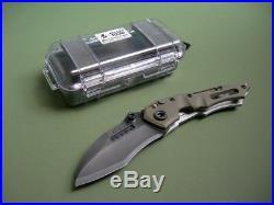 Dwaine Carrillo / Airkat Knife M250 Cobra Model 5 / Green G10 / Button Lock New