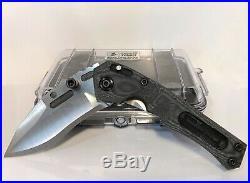 Dwaine Carrillo Custom TRIPWIRE II Compound Recurve Ti Folder with Black Micarta