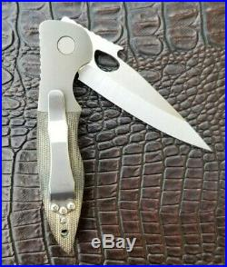Emerson Custom Knives Custom el Bandito Blade Show 2017 OD Green Canvas Micarta