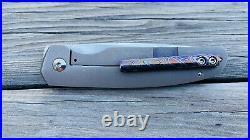 Enrique Peña Custom Caballero Front Flipper Titanium -Mokuti Clip- Pena Knives