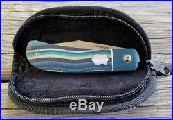 Enrique Peña Custom Lanny's Clip Front Flipper Multicolor Micarta Pena Knives