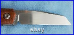 Enrique Pena Custom Raptor, Antique Paper/Natural Micarta, Satin CPM154 Blade