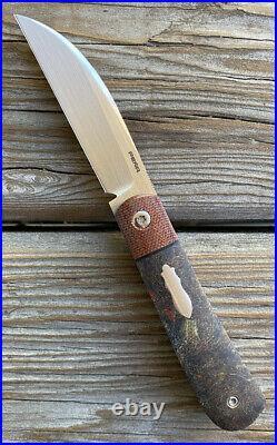 Enrique Peña Custom Swayback Front Flipper Micarta Pena Knife Rare
