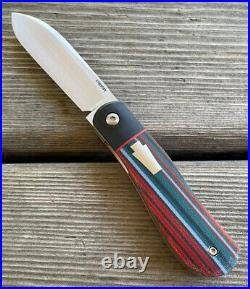 Enrique Peña Dogleg Custom Front Flipper Micarta Pena Knives Rare