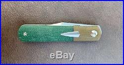 Enrique Peña Knives Custom Barlow Front Flipper Micarta Pena Knife