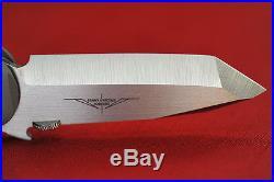 Ernest Emerson Custom CQC6 CPM154 Tanto Blade withWave Green Micarta Handle NIB